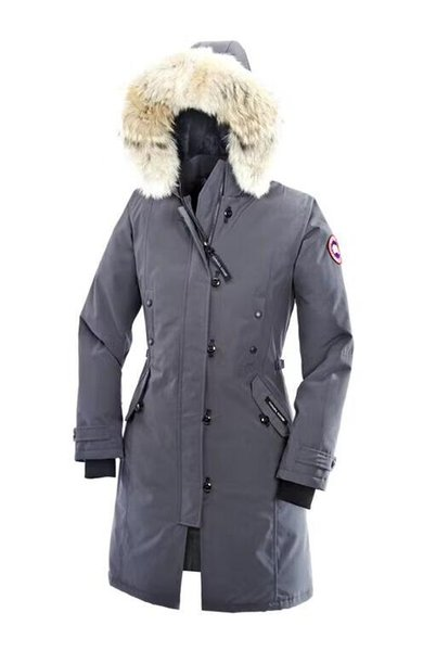 Free shipping Winter New Canada Women's and men Goose Down Chilliwack Bomber Hooded Warm Coa Couple modelst Fur Windbreaker parka