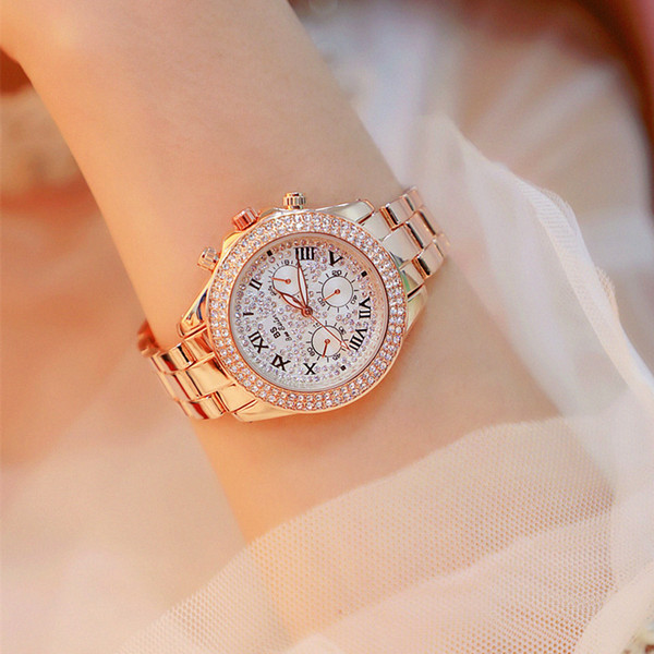 En gros BS Nouvelle montre à chaînes de haute qualité Quartz Diamond Watch Women Watch poignet femme Fashion Women Dress