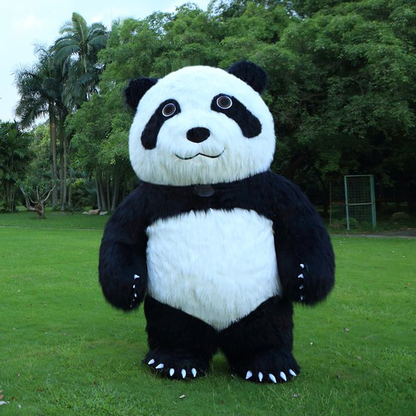 New Style 2.6M Inflatable Panda Costume Inflatable Plush Panda For Advertising Customize dress Suitable For 1.7m To 1.9m Adult