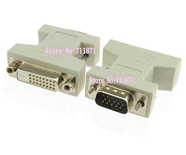 DVI 24 + 1 Kadın VGA 15 P Erkek Adaptörü DVI-D Kadın 15 P D-Sub Erkek Konnektör VGA DVI dönüştürücü D-Sub bağlamak