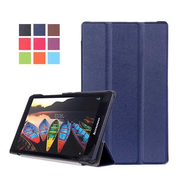 """20PCS Tote Tri-Folding Ultra Magnetic Stand Tablet Slim Case For Lenovo TAB3 8/TAB2 A8-50 8"""" Smart Casual PU Leather Cover +Pen"""
