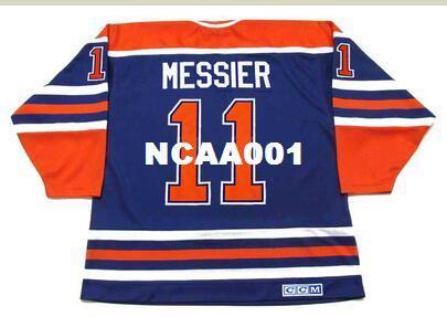 Homens # 11 MARK MESSIER Edmonton Oilers 1990 CCM Retro Vintage Hóquei Jersey Ou personalizado qualquer nome ou número retro Jersey