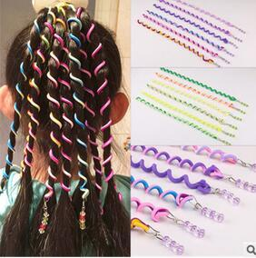best selling Newest DIY Parent-child Hand Braider String of Beads Hair Rollers Spiral Colour Roll Hair Care & Styling Tools Free-shipping