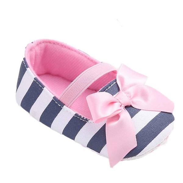 Baby Mädchen Schuhe Streifen Bowknot Schuhe Kleinkind Turnschuhe Casual
