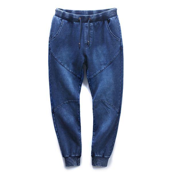 Plus size 8XL Japanese style Men's Jeans High Elasticity Harem Pants Blue Mens Jeans Homme Denim Joggers 2018 Large size