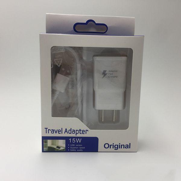 Высокое качество быстрое зарядное устройство адаптер путешествия зарядное устройство 1 м USB кабель Type-C для Samsung S6 S7 Edge хороший пункт