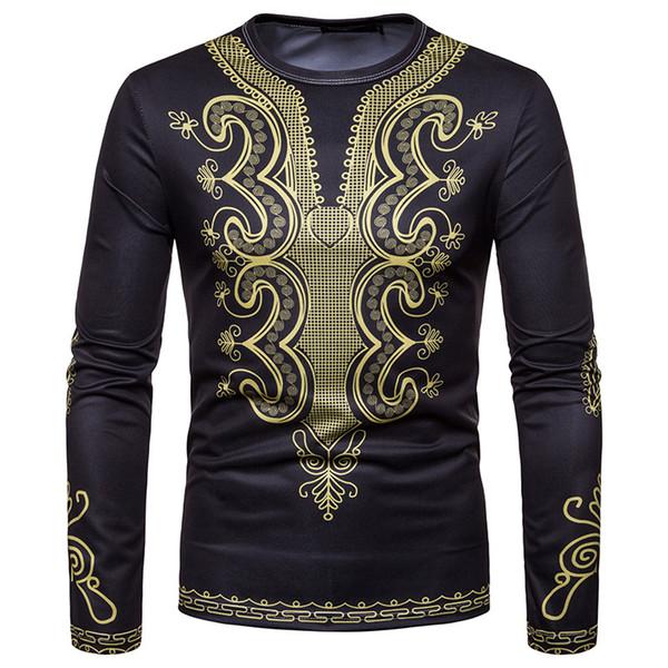 c1949a0610a African Print Dashiki T Shirt Men Clothes 2018 Brand New O-neck Long Sleeve Tshirt  Men Casual Hip Hop Streetwear Tee Shirt Homme