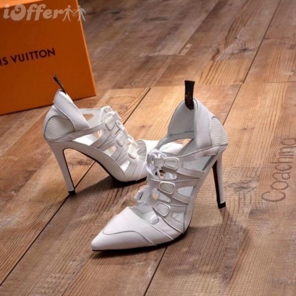 10CM FRAUEN WEISS HIGH HEEL POINT SANDAL PUMP SCHUHE Frauen Pumps Loafers Ballerinas Espadrilles Wedges Turnschuhe Stiefel Booties