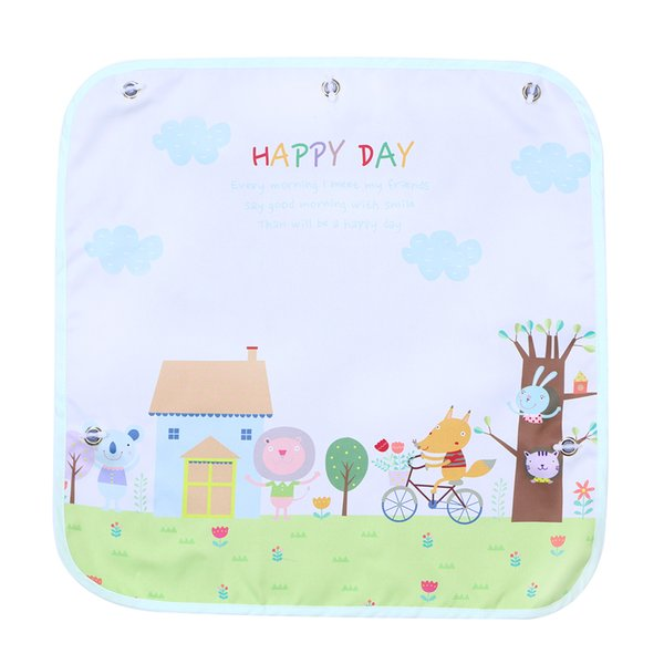 4b28f921ad6 Cartoon Car Side Window Auto Sunshades Protector Block Damaging UV Rays  Bright Sunlight Heat for Kids Child Pets (Happy Day)