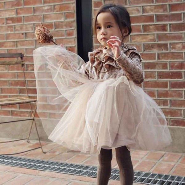 Осень новорожденных девочек золотой бархат водолазка Принцесса платье дети блеск серебряный с длинным рукавом сетки платье партии дети Хэллоуин косплей одежда