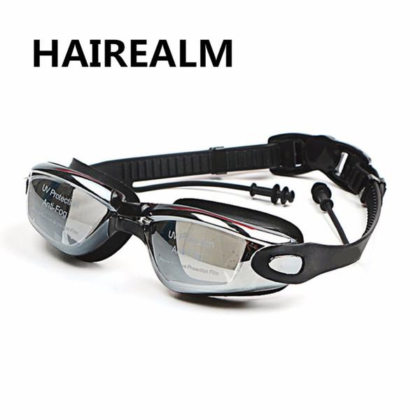 67e3436f25 Miopía profesional de silicona gafas de natación antivaho dioptrías UV  deportes gafas natación gafas con tapón