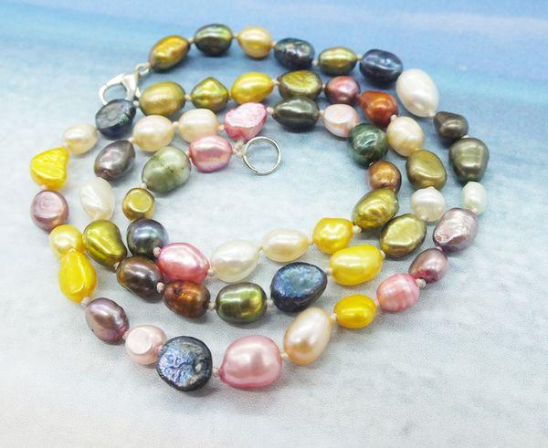 Perlenkette! 6-7MM unregelmäßige barocke gemischte Perlenkette. Sehr beliebte Halskette 18 Zoll