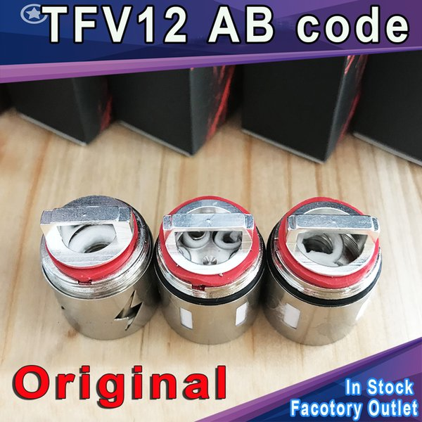 200% Authentic TFV12 Coil Head Replacement AB code T12 T6 X4 Q4 Atomizer Heads Beast Cloud Monster Vape V12