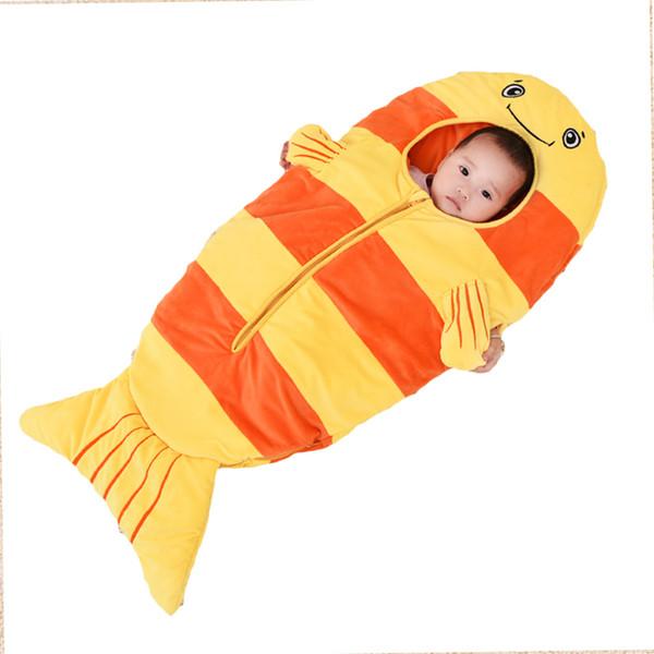 Baby bedding Sacchi a pelo per bambini Sacco a pelo per bambini infante Toddler spring summer cartoon animals sleep bag lion XHY023