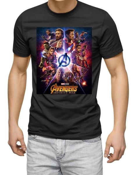 infinity wars tshirt novie retro film classic poster design graphic black Men Brand Clothihng Top Quality Fashion Mens T Shirt 100%Cotton