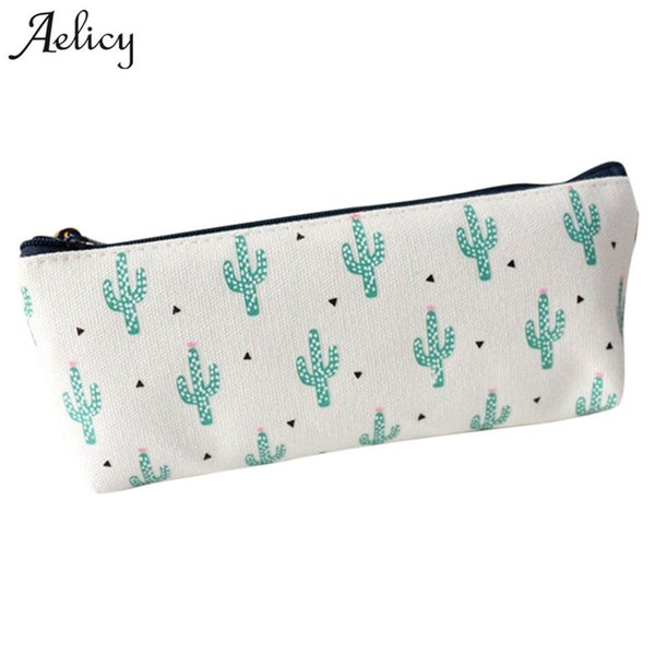 Aelicy Printing Cosmetic Bag Multicolor Pattern Cute Cosmetics Pouchs For Travel Ladies Pouch Women Makeup Bag Cute Pencil Case