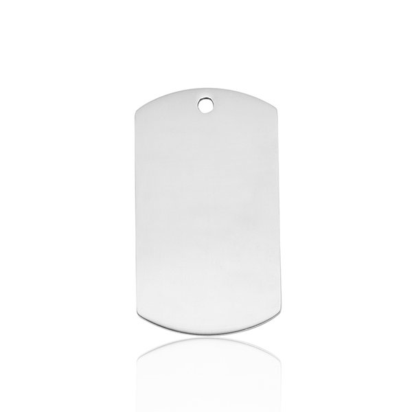 Blank Dog Tag Charm Army Military Shape Engravable Stainless Steel Mirror Polish Wholesale Thickness 1.2mm Key Chain Pendant Necklace Making