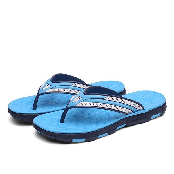 wholesale 2018 Summer Beach Slippers Men Flip Flops High Quality Beach Massage Sandals Non-slide Male Slippers Zapatos Hombre
