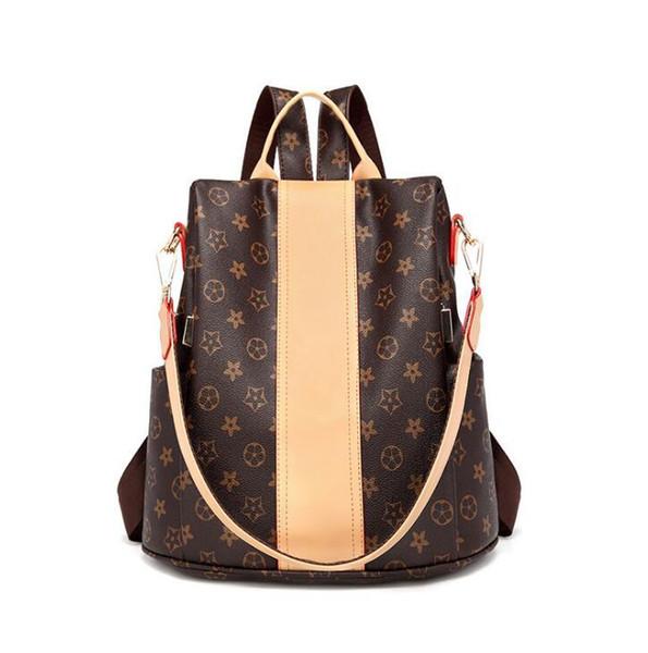 Прямой новый классический печатных женщин рюкзак мода кожа противоугонные женщины рюкзак досуг путешествия кожаный рюкзак