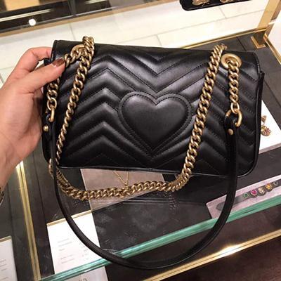 Marmont bag Luxury Handbags high quality Famous Brands Designer Handbags women bags Original Quality Cowhide Genuine Leather Shoulder Bags