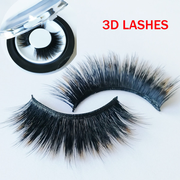 hot sale strip eyelashes high quality 3D faux Mink Hair Eyelashes Messy Sexy Eyelash Full Strip accept private label on stickers GR291