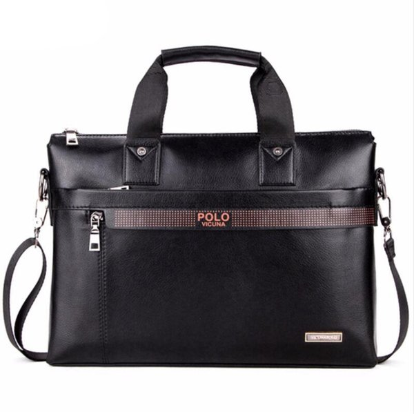 Leather Men Bag Briefcase Casual Business Leather Computer Bag Mens Messenger Bag Vintage Men's Laptop Bags Bolsas Male Free Shipping