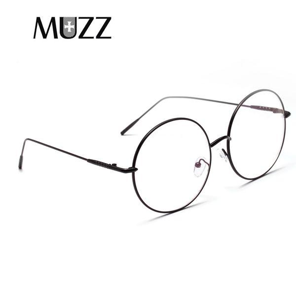 1a69bd946b0d MUZZ round prescription myopia Lenses frames glasses Metal Full Rim  Eyeglass Frames Spectacle Frame Transparent Glasses
