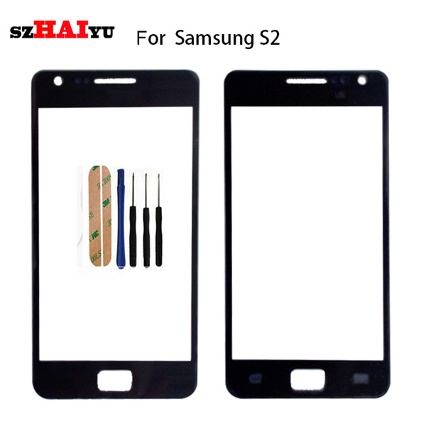 10pcs/lot For Samsung Galaxy Duos S2 S3 S4 S5 S6 S7 S8 S8 prime Touch Screen Digitizer Sensor Outer Glass Lens Panel Black White Gold with t