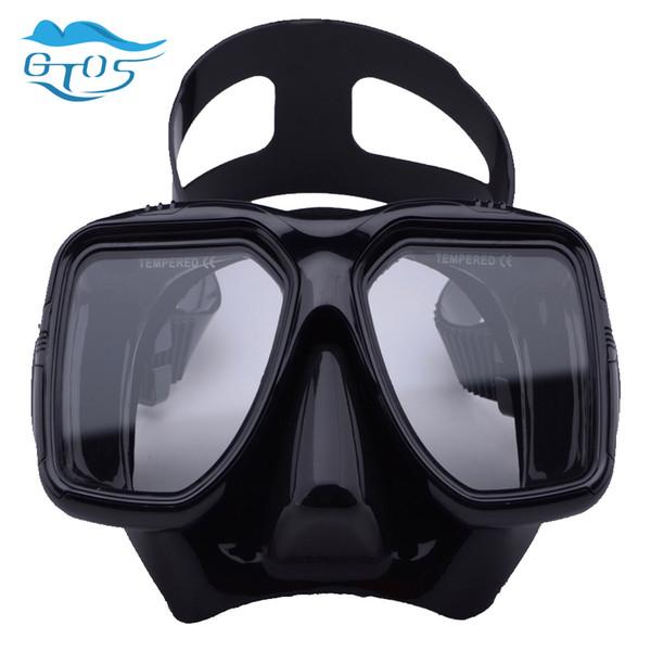 Schwimmen Tauchmasken Tauchmaske schwarz Freitauchbrille Gehärtete Brille Antifog mit verstellbarem Riemen