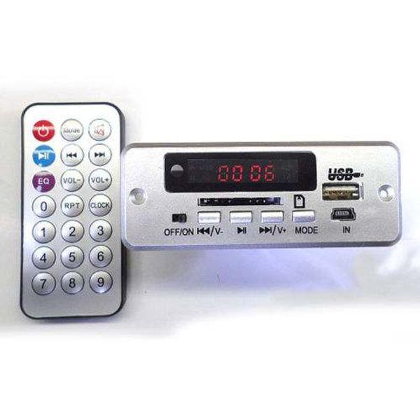 Freeshipping Digital led DC 5V MP3 decode board with 2*3W amplifier amp + IR remote control/ usb SD fm Radio