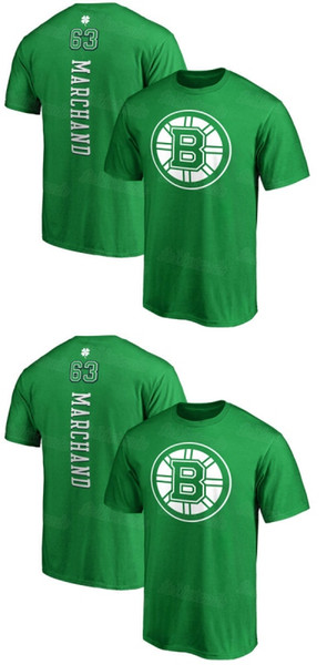 release date: f7941 21d19 2019 Mens Boston Bruins Patrice Bergeron Brad Marchand Kelly Green St.  Patrick'S Day Backer Name & Number Hockey T Shirt Whole Sale Dropshipp From  ...