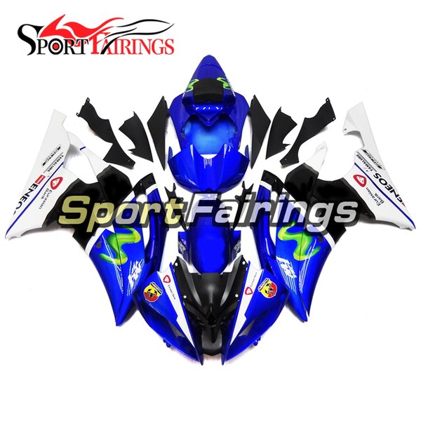 Blue White Black Motorcycles Fairing Kit For Yamaha YZF600 R6 YZF-R6 2008 - 2016 09 12 13 14 15 Injection ABS Plastic Motorcycle Body Kits