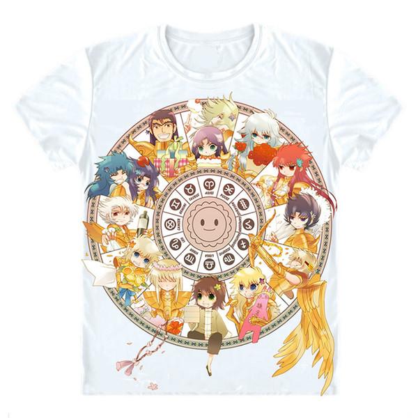 Saint Seiya T-Shirts Multi-style Short Sleeve Shirts Seinto Seiya Pegasus Seiya Knights of the Zodiac Aquarius Camus Cosplay Shirt
