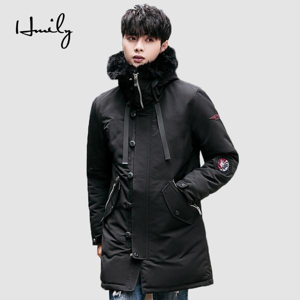 67a511b47bb3b HMILY Chaqueta de invierno de los hombres cálidos y gruesos bolsillos a  prueba de viento de