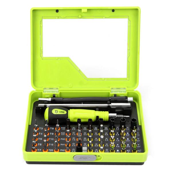 53pcs móviles Herramientas de reparación de teléfono de múltiples bits de precisión destornillador Torx pinzas Set Kit de herramientas de reparación de PC para el teléfono móvil