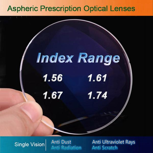 Single Vision optische Gläser verschreibungspflichtige Linsen für Myopie / Hyperopie / Presbyopie Brillen CR-39 Resin-Objektiv mit Beschichtung