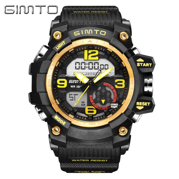 X GIMTO Brand Sport Digital Watch Men Shock Clock Waterproof Military Army Electronic Wrist Watches Relogio Masculino Montre