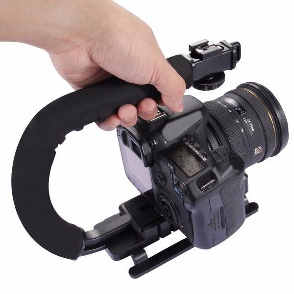 PULUZ C-förmiger Videogriff DV Bracket Steadicam Stabilizer für alle SLR-Kameras und DV-Heimkamera