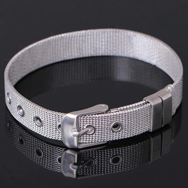 Часы ремешок Браслет из нержавеющей стали браслет регулируемый браслет женщины мода браслеты DIY группа серебряные золотые браслеты Оптовая