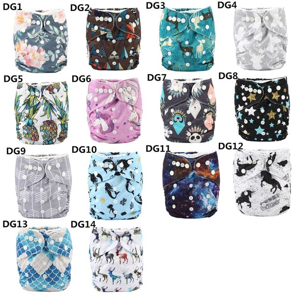 top popular [Sigzagor]Baby Infant Pocket Cloth Diaper,Nappy One Szie Reusable Washable,Holiday Halloween Christmas,3kg-15kg 8lbs-36lbs 200 Prints 2021