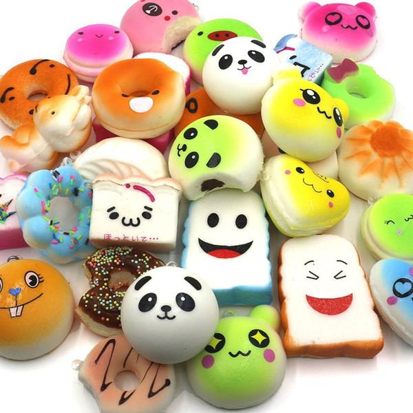 Kawaii Squishy Rilakkuma Donut Yumuşak Squishies Sevimli Telefonu Sapanlar Çanta Charms Yavaş Yükselen Squishies Jumbo Çörekler Telefon Charms Ücretsiz DHL
