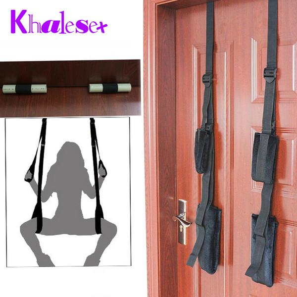 Khalesex Adultos Sex Swing Sillas Muebles Love Door Swing Juguetes Sexuales para Mujer Restricción Fetish Bondage Productos Sexuales para Parejas S926