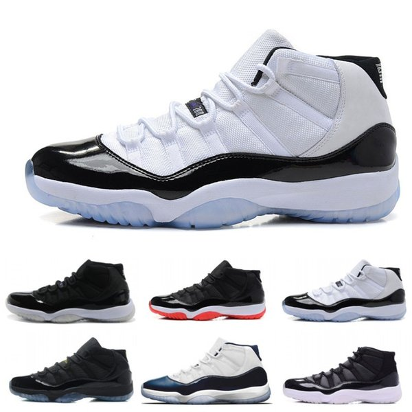 Top 11 Noir Blanc Space Jam Hommes Chaussures De Basket-ball Superbe Gym Rouge Chicago Midnight Navy XI Sports Sneakers Taille 36-47