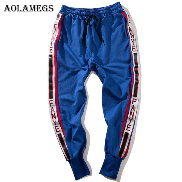 Aolamegs Pants Men Side Striped Pants Track Pantaloni uomo Elastico in vita Fashion High Steet Jogging Pantaloni sportivi Streetwear
