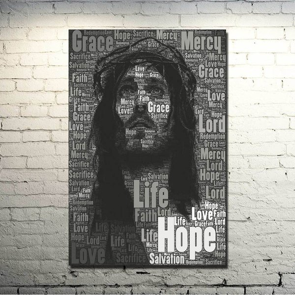 1 Pcs Jesus Christ Motivational Art Silk Poster Print 13x20 24x36inches Pictures for Wall Decor Painting