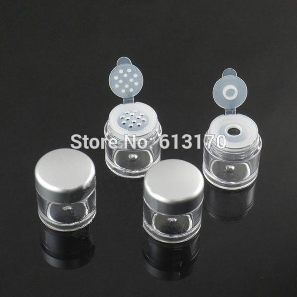 5G Potes de Pó solto com Sifter Malha Vazio Diy Make-up nail art glitter Embalagem recipiente tampa de prata frete grátis