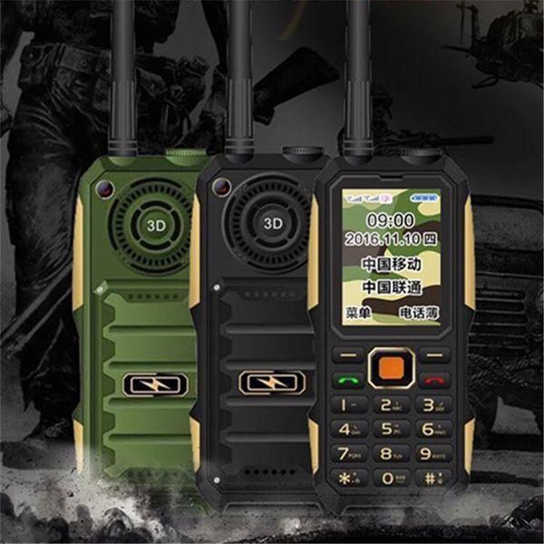 007 WaterProof 4000ahm Dual Core No Smart phone Big Battery DustProof Phone 20hours 20mm Spearker good signal 3 colors in stock