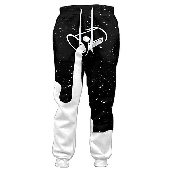 2018 Joggers Pants Men Pouring Into The Starry Night Sky To Fill Up The Galaxy Glass Of Milk 3d Print Sweatpants Casual Trousers