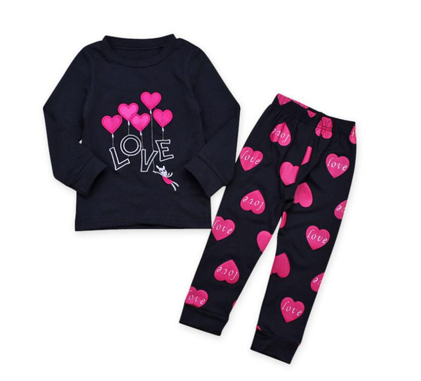Baby girl vêtements ensembles pour enfants à Manches Longues Imprimé Toddler Girls Baby Costume