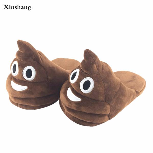 Chinelos de inverno de pelúcia interior animal emoji furry casa casa com pele chinelos mulheres fofo rihanna slides fenty sapatos